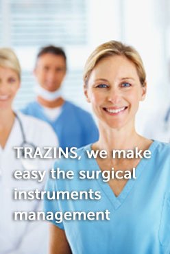 In TRAZINS, we offer our customers tools to make easy the management of the surgical instruments.